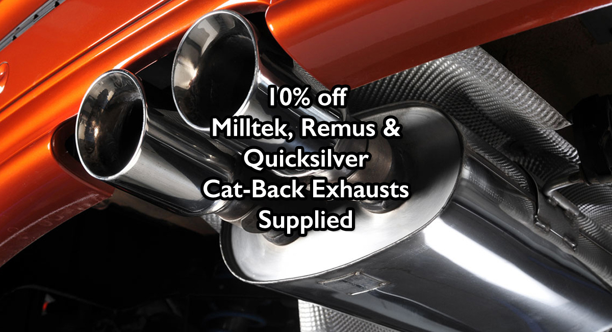 March - 10% off Exhausts